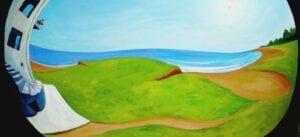 Vision esférica en la orilla de la Isla de Kartare